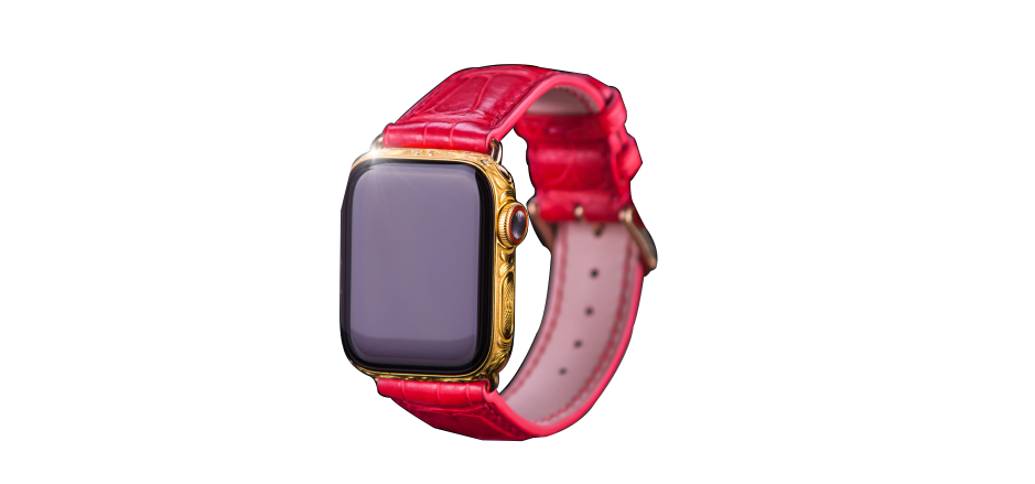 Apple iWatch 4 Gold 24k (Золото) Red